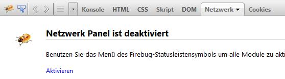 Firebug-Netzwerk-aktivieren